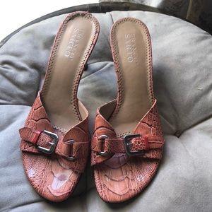 Franco sarto snake skin heels